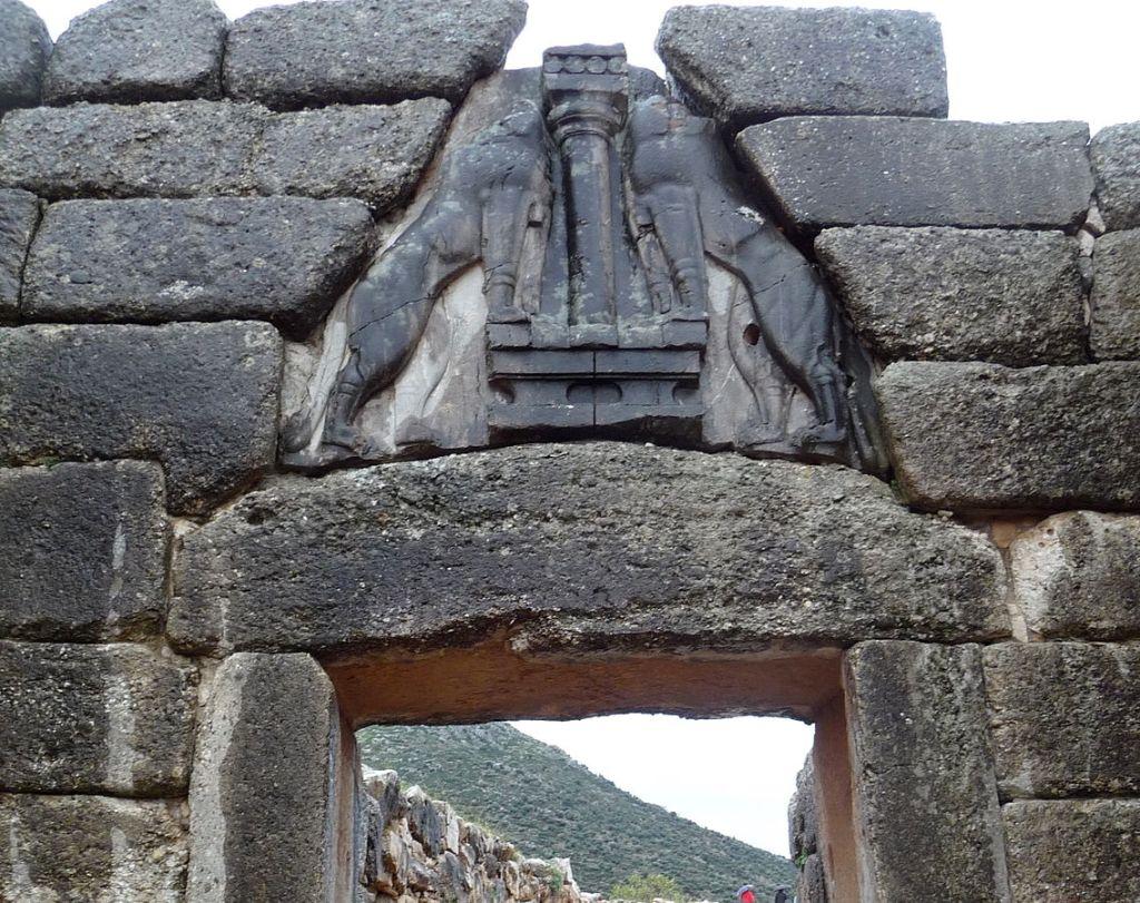Lion gate in Mycenae
